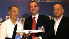 ... airlines jean francois laval of airbus and ramon s ang president
