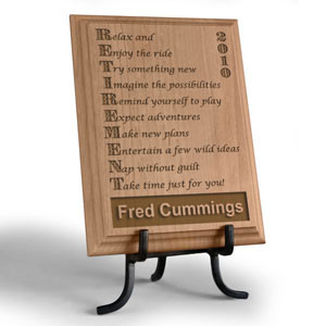 retirement wooden plaque life begins at retirement and this solid wood ...