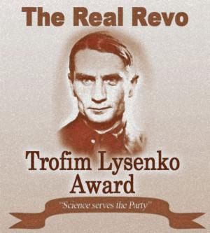 ... Trofim Denisovich Lysenko Award! Congratulations Professor Norgaard