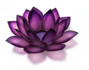 Beautiful Purple Lotus Candle Holder