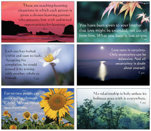 Full color cards featuring beautiful images with quotes from A Course ...