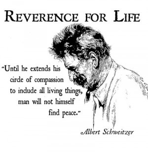 Albert Schweitzer Quote T Shirt compassion to include all living ...