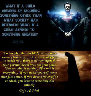 Jor-El & Ra's Al Ghul Quotes on Superman & Batman