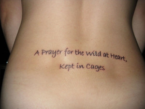 tattoo about living life free inked right on the lower back in simple ...