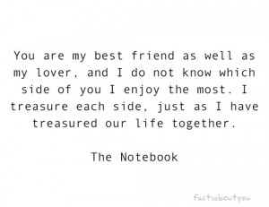 Love Quote : You are my best friend as well as my lover,