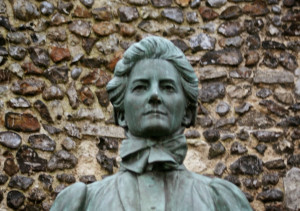 Monument commemorating Edith Cavell, outside Norwich Cathedral