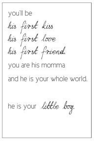 This made me cry! ♥ my little boy