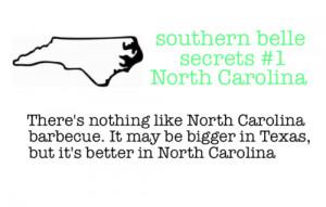 ... Permalink ∞ Tags: southern belle secrets North Carolina barbecue