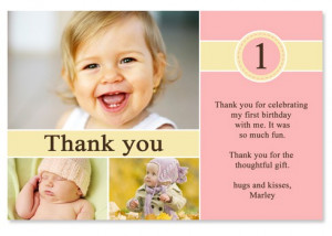 Marley 1st Birthday Thank You Cards