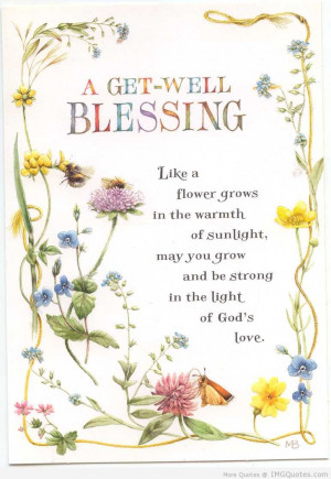 Get Well Blessing.