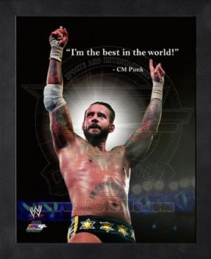 CM Punk WWE Pro Quotes Framed 11x14 P...