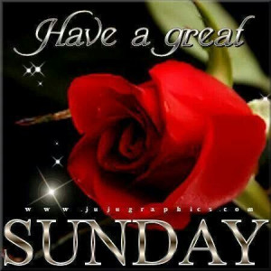 Have a great Sunday... THE SAME TO YOU!