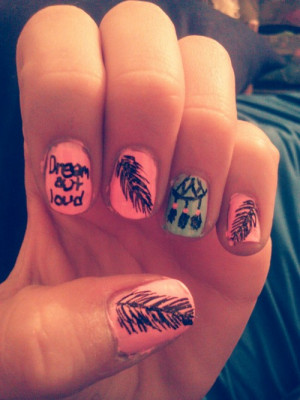 Dream catcher nails I did today