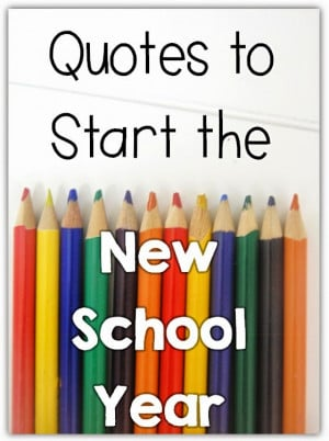 Quotes to Start the New School Year