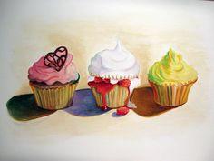 Wayne Thiebaud Cupcakes