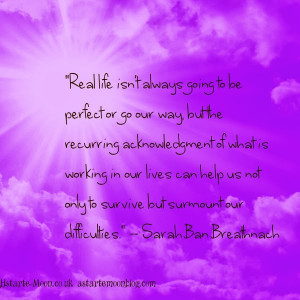 love Sarah Ban Breathnach's writings on life. She seems to be able ...