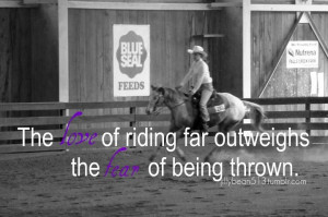 Love is greater than fear! #Riding #Quote #Horseback #Horse