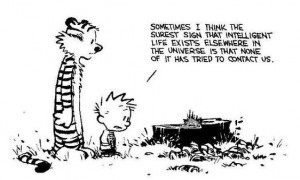 Calvin & Hobbs Environment quote