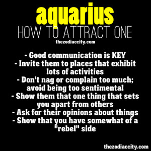 zodiaccity:How to attract zodiac Aquarius.