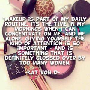 Kat Von D Quotes Kat von d quote about makeup
