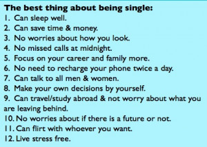 best thing about being single . . .Being Single, Singleand Learning ...