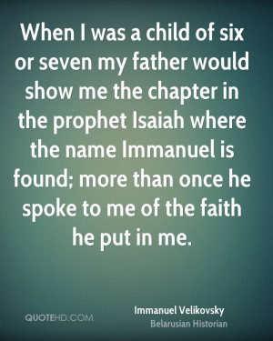 Immanuel Velikovsky Faith Quotes