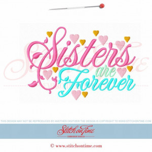 5930 Sayings : Sister Are Forever 5x7