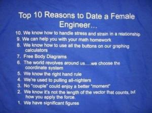 10 reasons to date female engineer