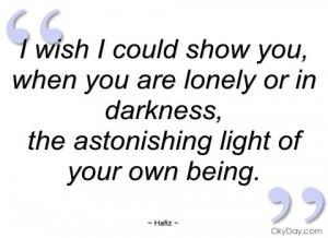 wish i could show you hafiz