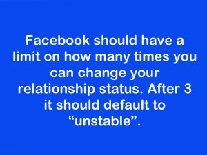 ... change your relationship status. After 3 it should default to