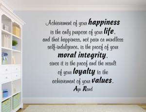 Ayn Rand Achievement of... Inspirational Wall Decal Quotes