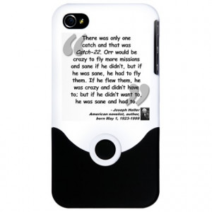 Heller Catch-22 Quote iPhone 4 Slider Case