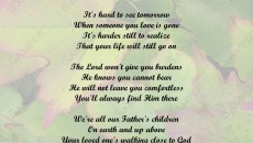 had an older brother who passed away recently, an older sister and ...