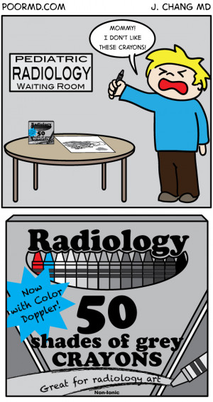 Radiology Comic: 50 Shades of Grey (Radiology Style)