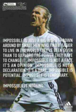 David Beckham Soccer Quote. This is so true. Watch David in a soccer ...
