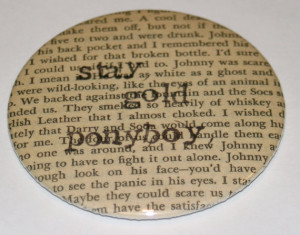 Literary Quote Pocket Mirror - Stay Gold Ponyboy - The Outsiders