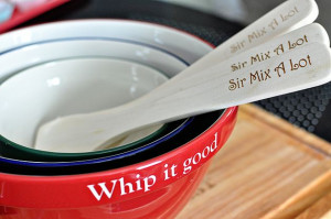 Whip it good + Sir Mix A Lot Spoons - cute gift ideas Personalize ...