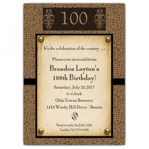 Results for 100Th Birthday Quotes.