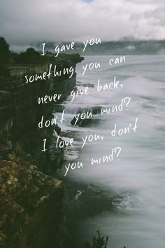 The 1975 - Me. Favorite lyrics right there. More