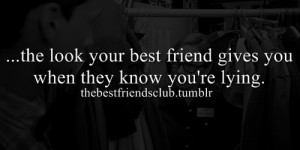best friend, lying, look, friendship