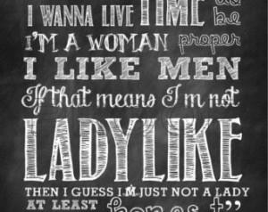Ladylike Quote Chalkboard Print
