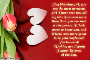 Cute Quotes For Girlfriends Birthday ~ Birthday Wishes For Girlfriend