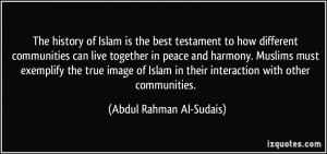 best testament to how different communities can live together in peace ...