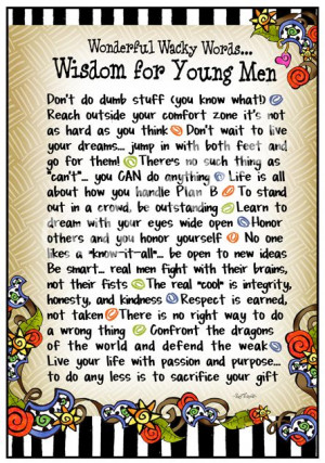 Wonderful Words of Wisdom for My Wonderful Son