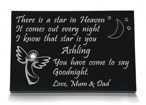 boy angel memorial colour black granite 16 x 10 12 x 8 girl angel ...