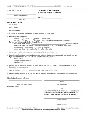 Rights Free Legal Parental Consent Form