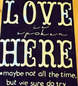 Love Quote Canvas Craft - Finished canvas quote art