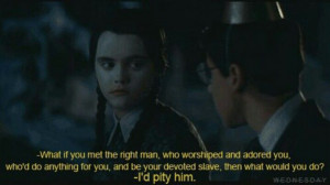 Wednesday Addams Quotes Thanksgiving Wednesday addams gets me. via the ...
