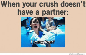 When your crush doesn't have a partner: