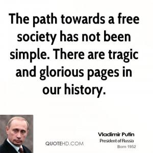 Vladimir Putin Society Quotes